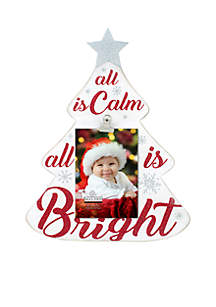 All Is Bright Rustic Tree Clip Frame