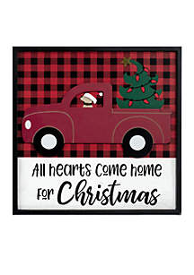 All Hearts Come Home for Christmas Wall Sign