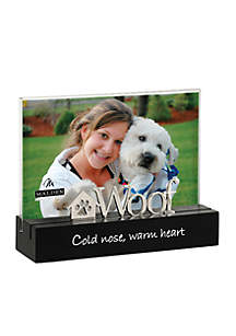 Woof, Cold Nose, Warm Heart 4x6 Tabletop Frame