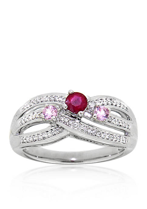 Belk & Co. Ruby and Pink Sapphire Ring
