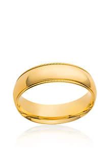 10k 5mm Comfort Fit Milgrain Ring