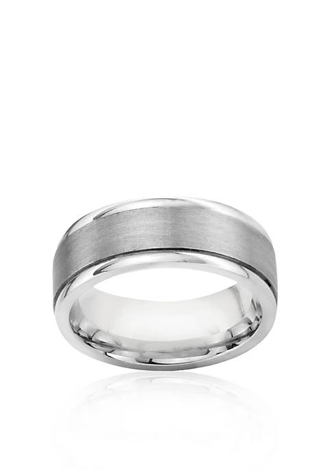 Belk & Co. Sterling Silver Engraved Comfort Fit