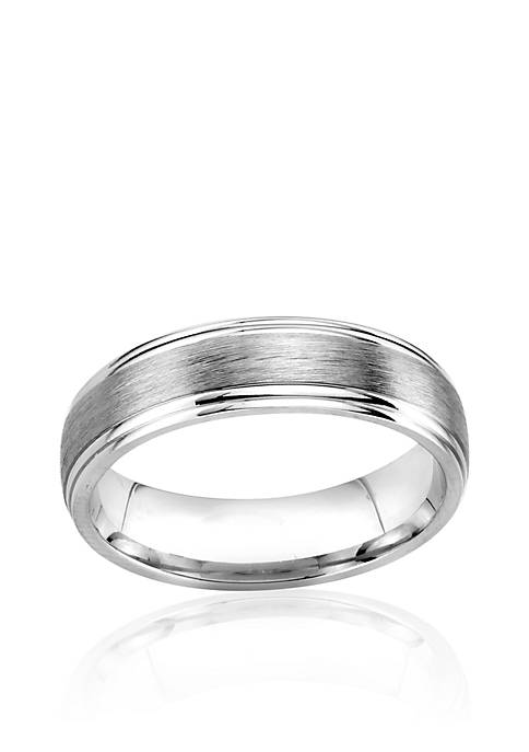 Belk & Co. Sterling Silver 6.5-mm. Engraved Band