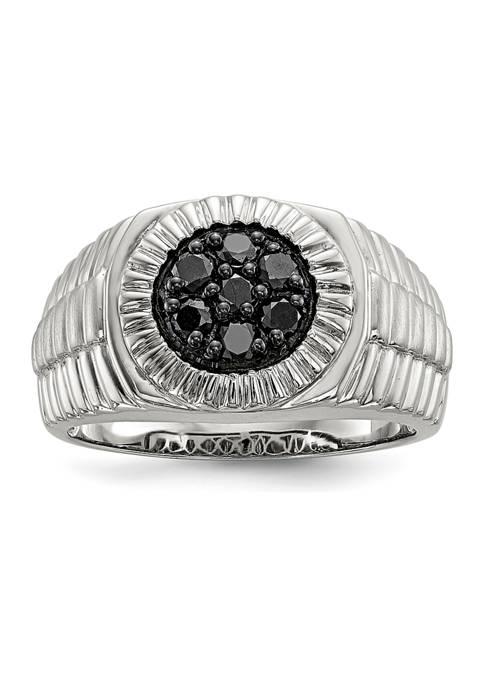 Belk & Co. Sterling Silver Mens Black Diamond