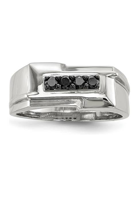 Belk & Co. Mens Sterling Silver Black Diamond