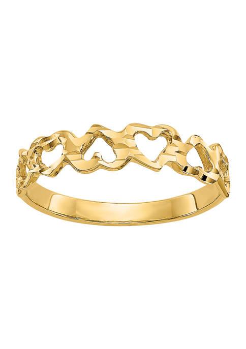 Belk & Co. 14K Yellow Gold Heart Ring