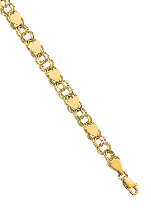 Belk & Co. 14K Yellow Gold Double Link