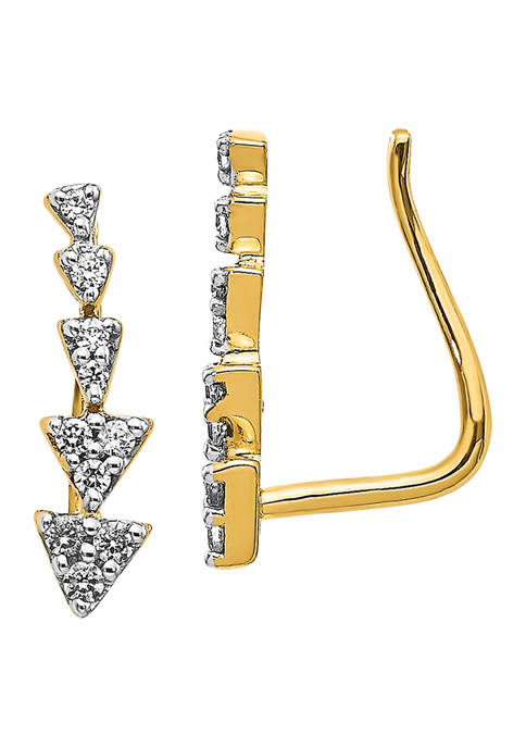 1/8 ct. t.w. Diamond Earrings in 14K Yellow Gold