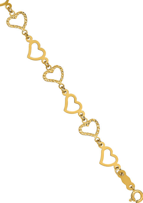 Belk & Co. 14K Yellow Gold Flat Diamond