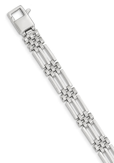 Belk & Co. Mens 14K White Gold Brushed