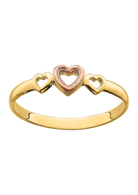 Belk & Co. 14K Rose and Yellow Gold