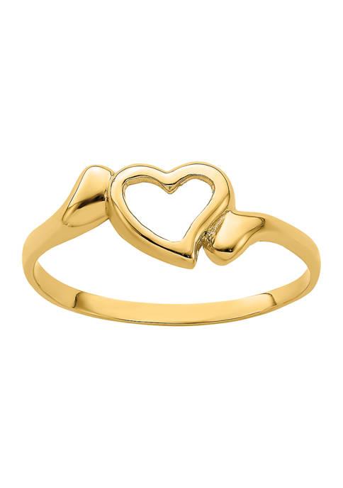 Belk & Co. 14K Yellow Gold Open Heart
