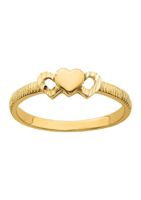 Belk & Co. 14K Yellow Gold Solid Heart