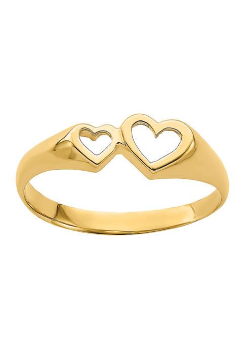 Belk & Co. 14K Yellow Gold Double Heart