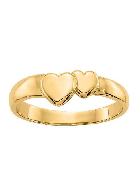 Belk & Co. 14K Yellow Gold Polished Adjoining