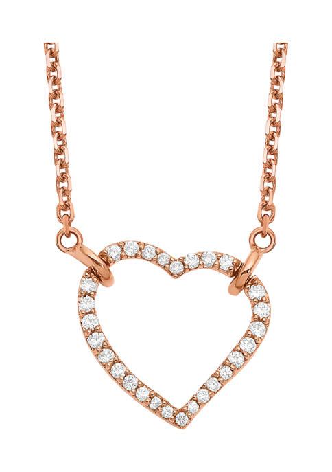 Belk & Co. 1/5 ct. t.w. Diamond Heart