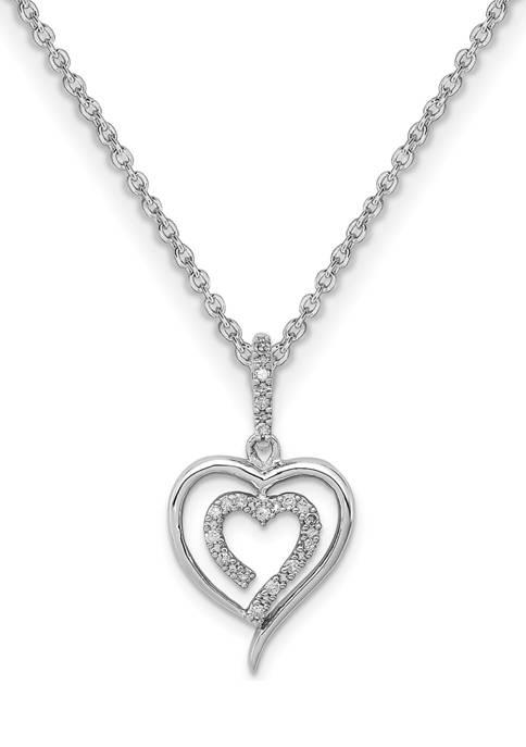 Belk & Co. 1/10 ct. t.w. Diamond Heart