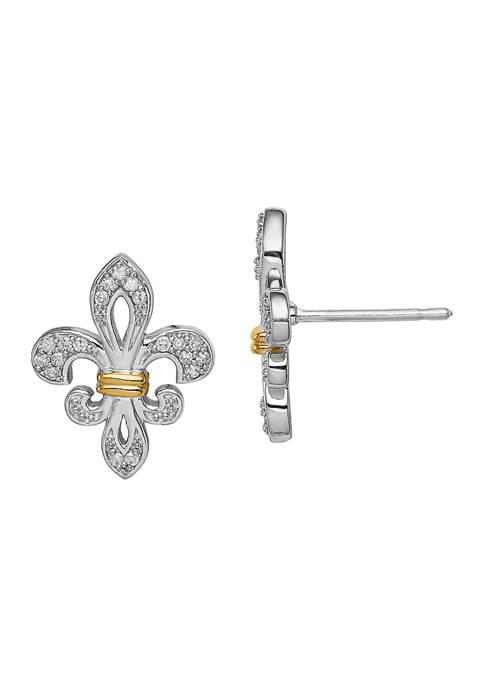 Belk & Co. 1/8 ct. t.w. Diamond Fleur