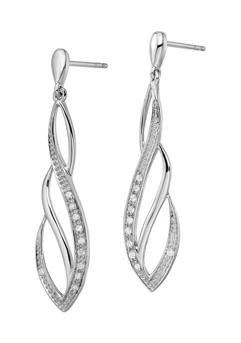 Belk & Co. 1/10 ct. t.w. Diamond Dangle