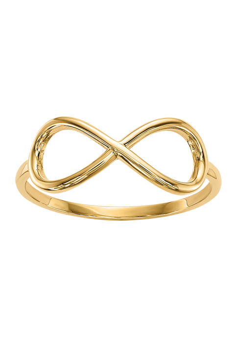 14K Yellow Gold Polished Infinity Ring