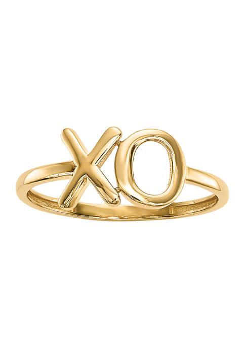 Belk & Co. 14K Yellow Gold Polished X-O