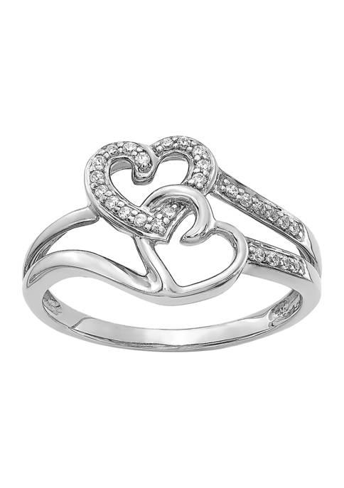 Belk & Co. 1/10 ct. t.w. Diamond Hearts