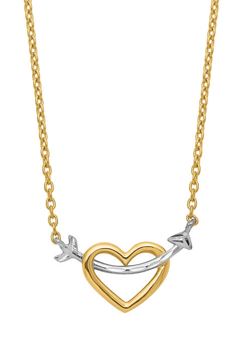 Belk & Co. Diamond-Cut Heart and Arrow Necklace