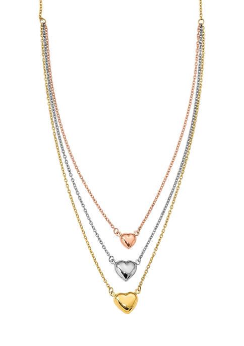 Belk & Co. Three Heart Necklace in 14K