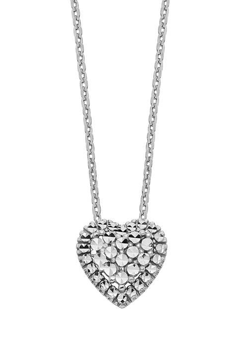 Belk & Co. 14K White Gold Diamond Cut
