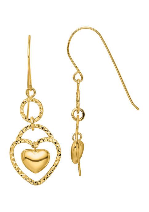 Belk & Co. 14K Yellow Gold Diamond-Cut Open