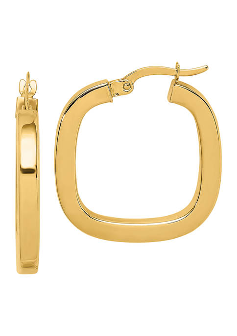 Belk & Co. 14K Yellow Gold Square Tube