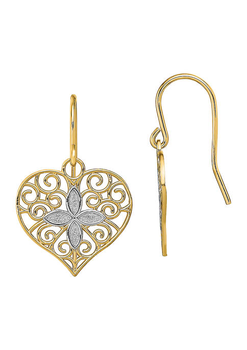 Belk & Co. 14K Yellow Gold with Rhodium