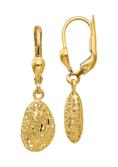 Belk & Co. 14K Yellow Gold Textured/Polished Satin