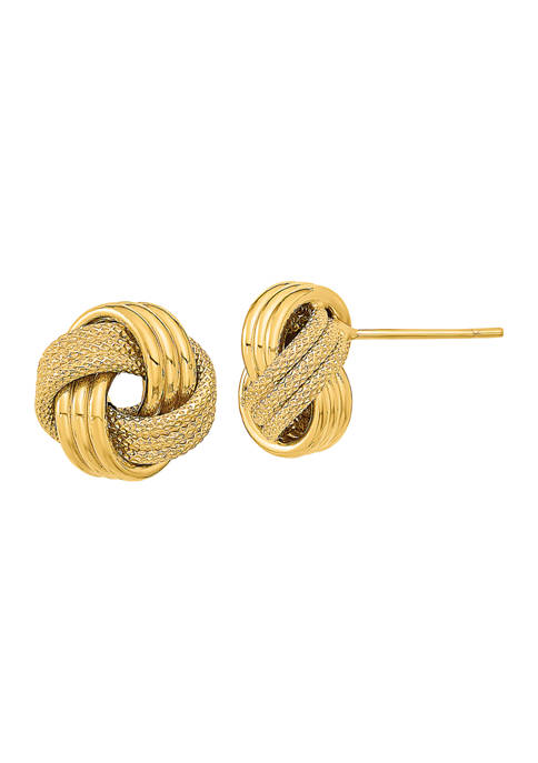 Belk & Co. 14K Yellow Gold Polished Textured