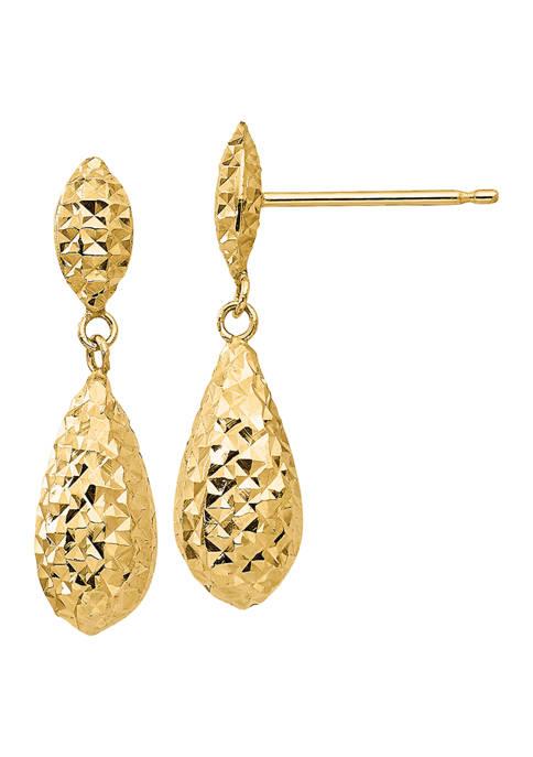 Belk & Co. 14K Yellow Gold Diamond-cut Puff
