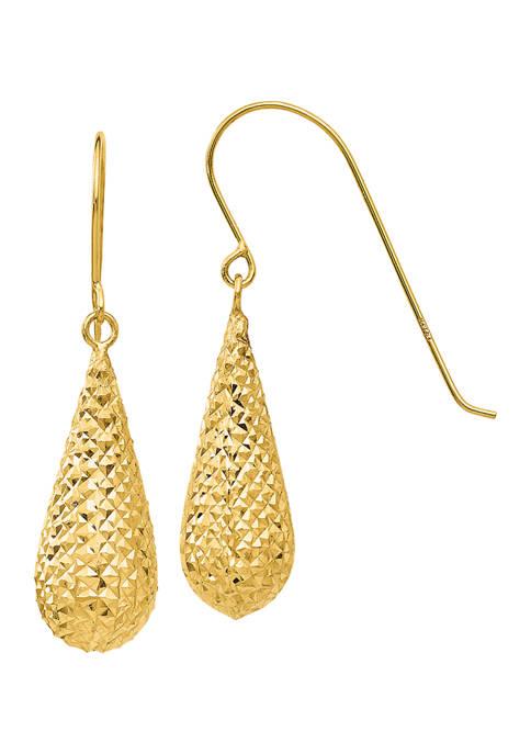 Belk & Co. 14K Yellow Gold Diamond Cut