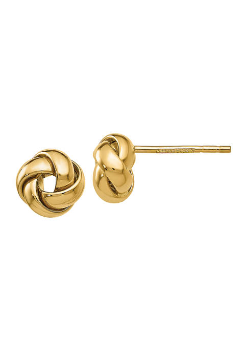 Belk & Co. 14K Yellow Gold Knot Post