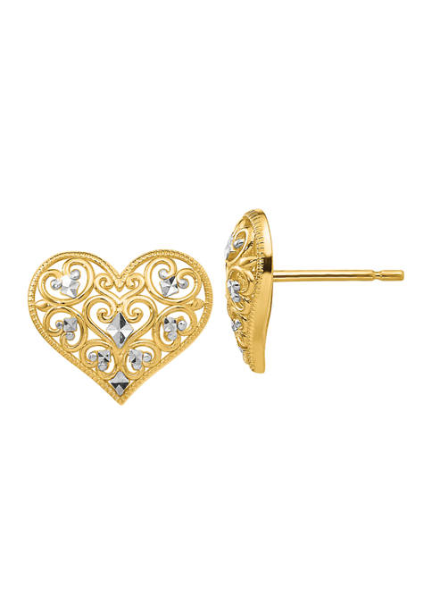 Belk & Co. 14K Yellow Gold and Rhodium