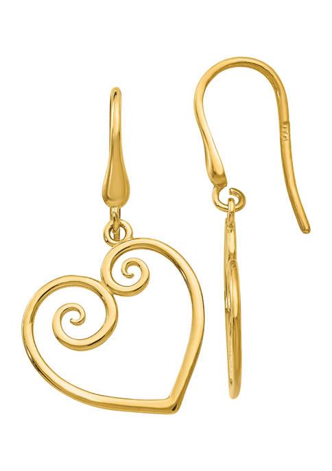Belk & Co. 14K Yellow Gold Heart Dangle