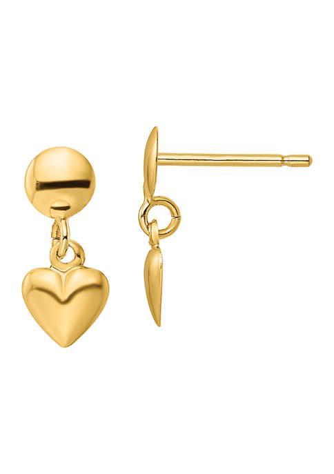 Belk & Co. 14K Yellow Gold Polished Heart