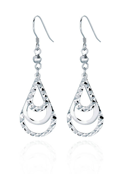 Belk & Co. Sterling Silver Teardrop Earrings