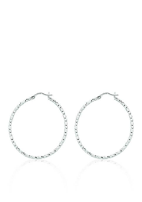 Belk & Co. Sterling Silver Hoop Earrings
