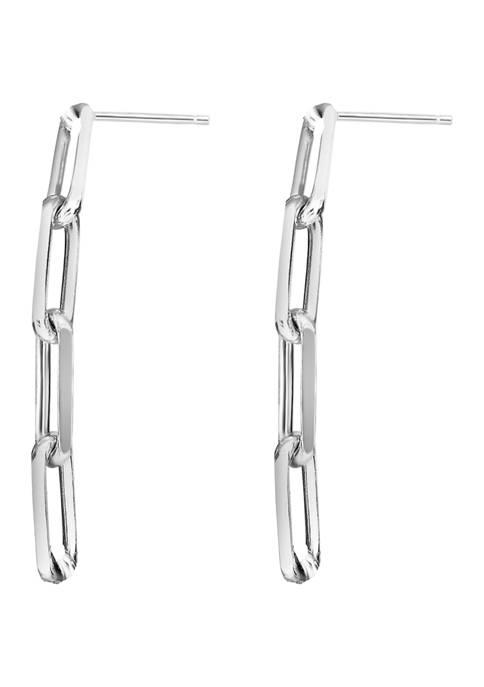 Paperclip Drop Earrings