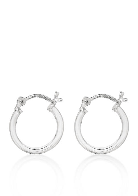 Belk & Co. Sterling Silver Round Hoop Earrings