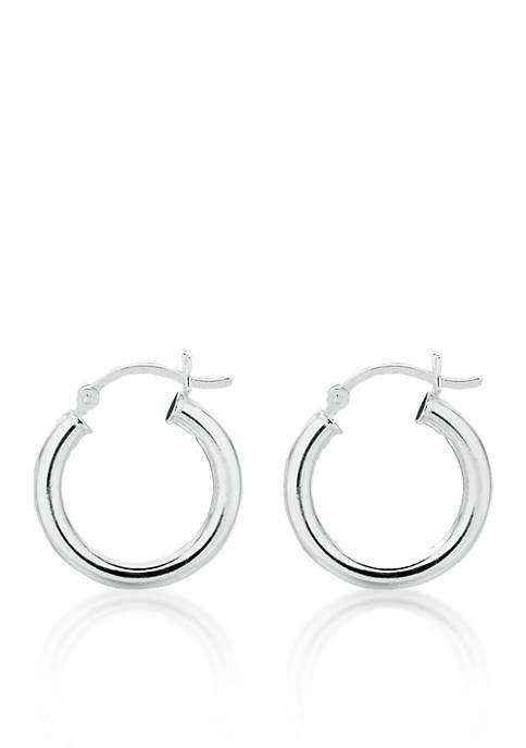 Belk & Co. Sterling Silver Round Hoop Earrings