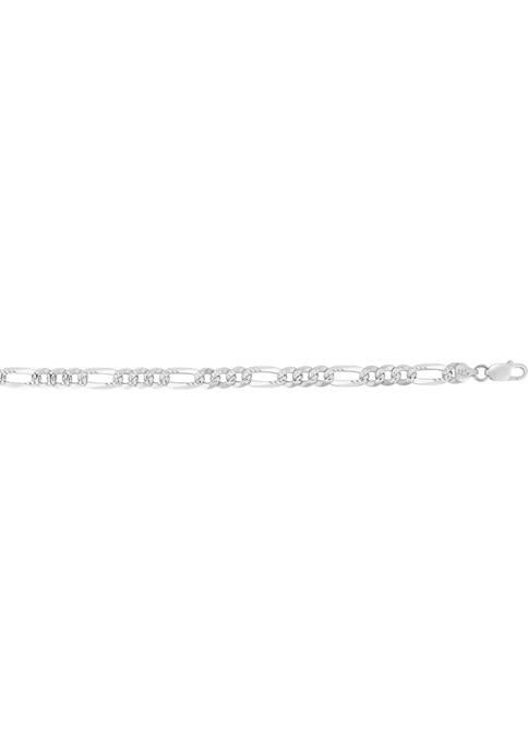 Belk & Co. Pavé Figaro Bracelet in 14K