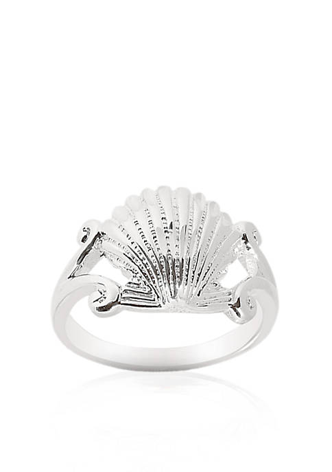 Sterling Silver Sea Shell Ring