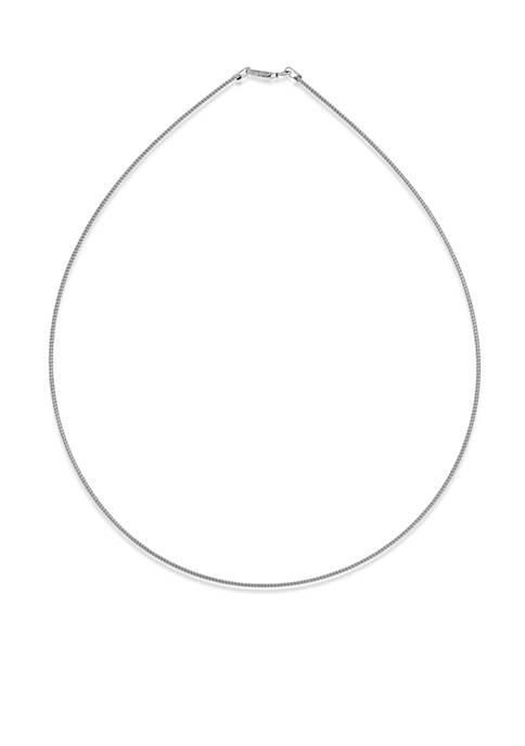 Belk & Co. Sterling Silver Omega Necklace