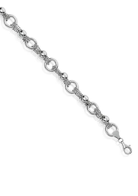 Belk & Co. Sterling Silver Rolo Link Bracelet