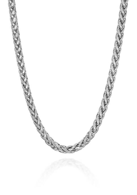Sterling Silver Square Chain Necklace